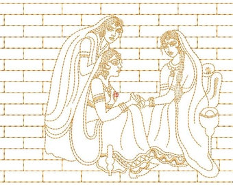 Lace Folk Embroidery Design,Vintage Border Indian Embroidery Design,INSTANT DOWNLOAD,Paadar Club