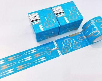 50% OFF! Washi tape Hoppy mini box CUT blue