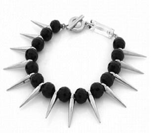 Spiked Bracelet Spiked Black Punk Style