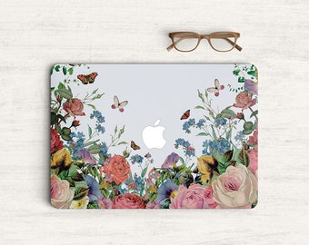 Flower Floral Sticker Skin Vinyl Decal for MacBook Laptop K0563