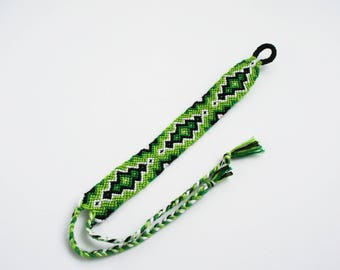 Green diamond friendship bracelet woven brazilian bracelet