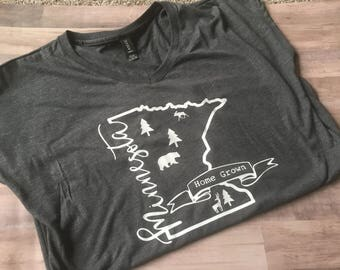 MN Minnesota Home Grown Home State Northwood Pride T-Shirt
