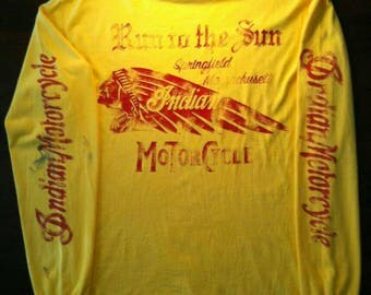 Vintage Clothing, 90's Rare, Indian Motrocycle, World Finest, Sprinfield Mass
