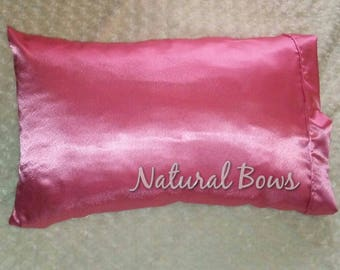 Pink Satin Pillowcase
