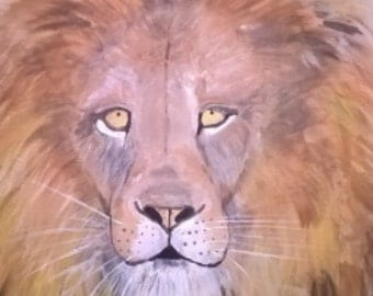 Original Painting, Lion, 16x20