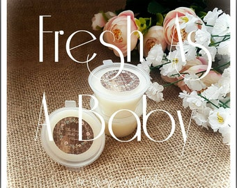 Fresh As A Baby Soy Wax Melt Shot Pot. Baby Powder Scent. Baby Shower Gift. Gift For Her.New Baby Gift. Mother's Day Gift. Wax Melt Sample