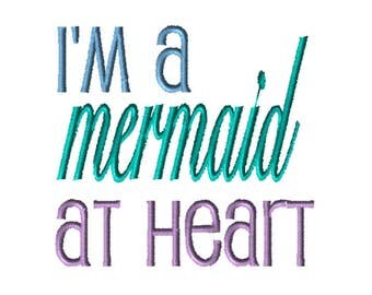 Embroidery File,  Embroidery, PES Format, Digital File, Embroidery Pattern, Machine Embroidery, Mermaid Embroidery Design, Mermaid