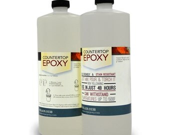 FX Poxy - Clear Epoxy Resin - 10 - 15 sq ft - Coat over Art, Countertops, and more!