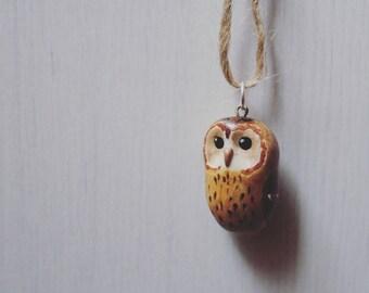 Tawny owl key chain / pendant.
