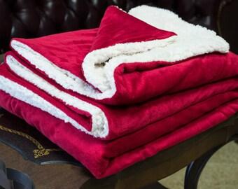Faux cozy mink sherpa blankets - Lambs wool sherpa