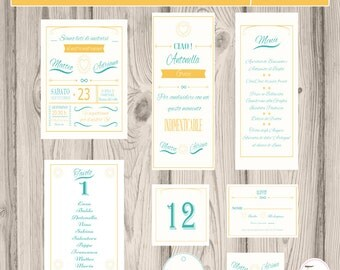 Coordinated printable printable wedding vintage wedding set/get involved//customizable/wedding invitation wedding Set