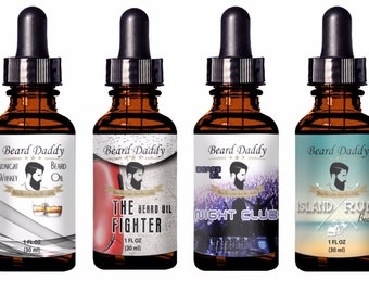 Beard Daddy Premium handcrafted all natural Beard Oil 1 oz- 4 scents to choose
