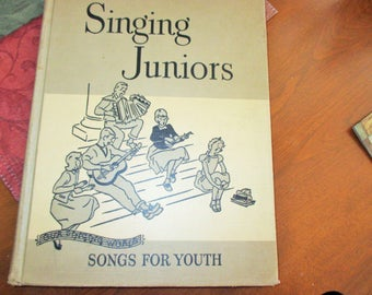 Songs for youth,singing juniors--1953 h/c book--by lilla belle pitts-looks like a 1st.ed. drawings throughout--cond.good