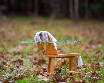 Rocking Horse in Forest Instant Download Digital Backdrop photography