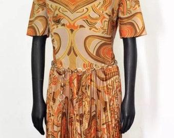 Vestito vintage anni '70 - Vintage dress original 70s - Size 46/48 IT