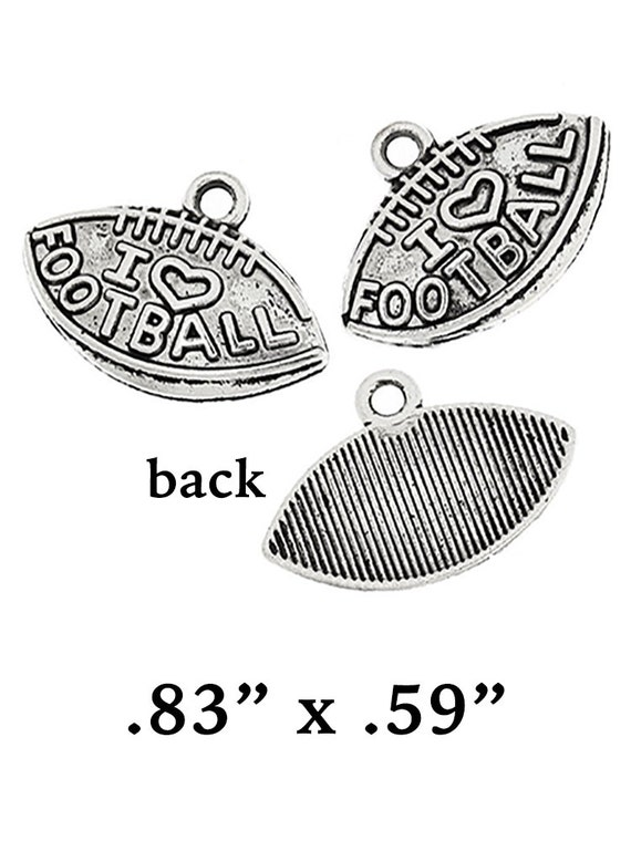 Football Charms, New, 4 pcs  **FREE U.S. SHIPPING**