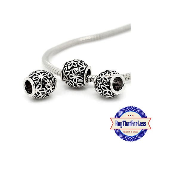 """Flower """"Carved"""" Beads, 6 pcs **FREE Shipping with orders 10 dollars+ **"""