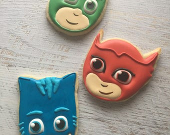 PJ Masks Decorated Cookies