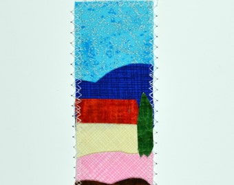 Blue Sky in Provence Handmade Fabric Card