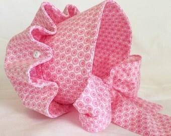 Easter Bonnet, Pink Bonnet, Baby Girl Bonnet
