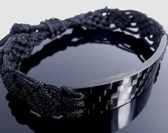Man Gifts, Carbon Bracelet, Mens Jewelry, Mens Bracelet, Mens Gift, Gift for Him, For Boyfriend, For Him, Boyfriend Gift, Boyfriend, Mens