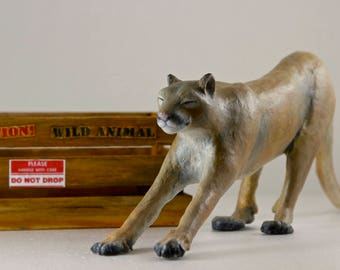 Stretching Mountain Lion Sculpture