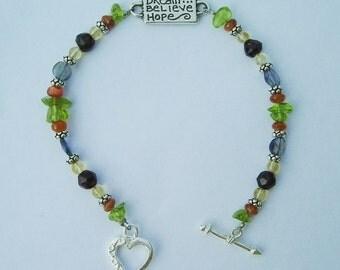 Celebrate Success Gemstone Beaded Sterling Bracelet
