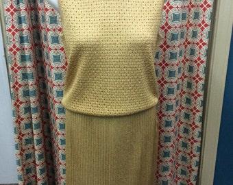 WOW!  3 Pc St John Knits Skirt Set GOLD