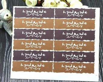 "48 PCS ""Handmade"" sticker, Seals, Scrapbooking, Scrapbook Supplies, Stationary, Paper, Paper Stickers, Stickers"