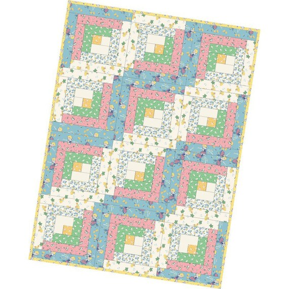12 Block Log Cabin Precut Quilt Kit Pods Maywood Studios
