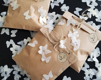Ivory vintage style wedding handmade tissue paper confetti butterfly/party and table decor/Wedding/Birthday/etc..