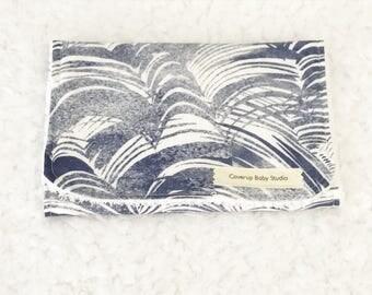 Oceana Burp Cloths - Nautical -  Ocean Waves Burp Cloth - Nautical Burp Cloths - Baby Shower Gift - Navy Wave Burp Cloth - Baby Essentials