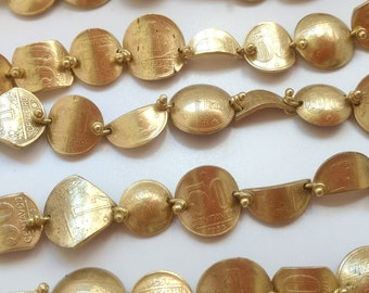 Golden bracelet with genuine antique coins - rounded variety
