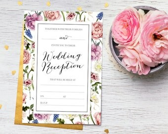 Floral Wedding Invitation Suite – Floral Wedding Invite – Wedding Stationery – Wedding Invites – Wedding Invitations UK