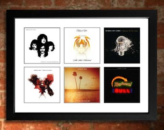 KINGS OF LEON  Vinyl Albums Limited Edition Art Print Mini Poster