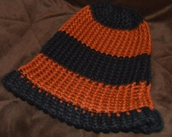 Handmade Knitted Hat: Striped