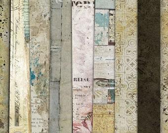 Digital Paper Pack, Scrapbook Papers, Printable Papers, Shabby Digital Papers, Paper Collection, Scrapbooking Backgrounds, Vintage Papers