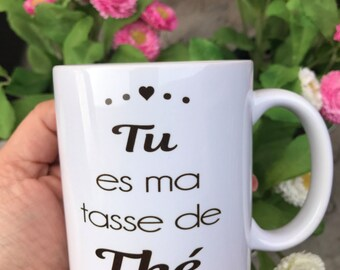 "Mug ""You're my cup of tea"" for lovers or Valentine's day gift"