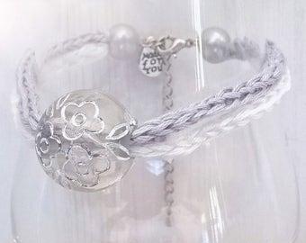 Bracelet gray & white