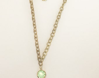 Crystal Type Green Love Necklace