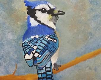 Blue jay print