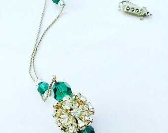 Art Deco Crystal and Rhinestone Necklace