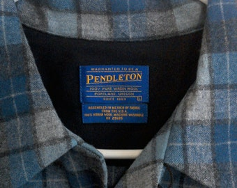 20% off Pendelton Board Shirt Men's Large LIMITED EDITION Beach Boys Wool Plaid Brand New with Tag // Pendelton Polo Shirt