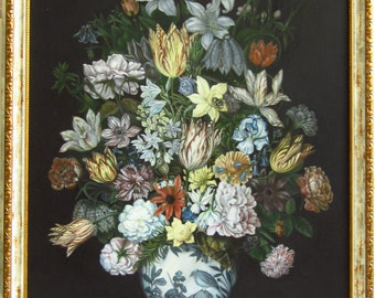 "Copy of the original ""A Still Life of Flowers in a Wan-Li Vase"" by Ambrosius Bosschaert"