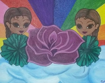 Celebrating Sisters Painting by Sunny Rose