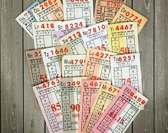 20 Vintage Malaysian Bus Tickets