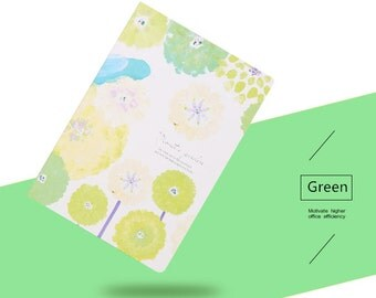 B5 Floral Lined Notebook—Minimalist Notebook, Blank Notebook, Planner,Journal,Flower,Pink,Blue,Green,Yellow,Notebook
