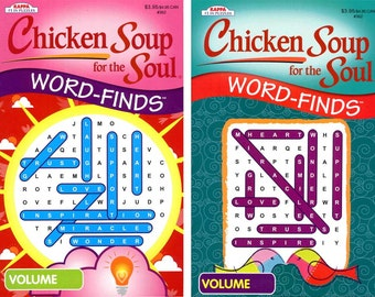 KAPPA Chicken-Soup For The Soul WORD-FINDS (Lot of 2 Volumes) Brand New