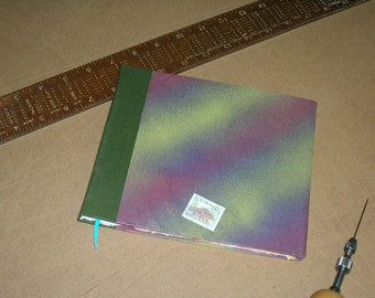 Small Blank Hand-Bound Album with Hand-Made Paper and Airbrushed Cover