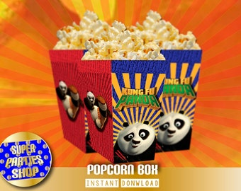 Kung Fu Panda Digital Printable Party Popcorn box, Custom Party, Kung Fu Panda,Birthday, Custom, Kit, Pack,po